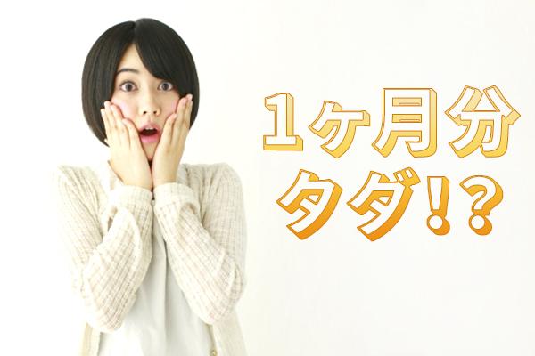 (画像挿入ー1ヶ月分タダ!?)