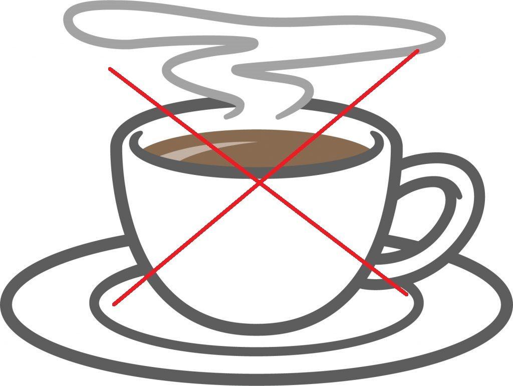 コーヒー(カフェイン)はNG
