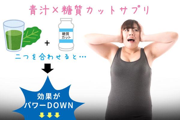 青汁×糖質カットサプリ