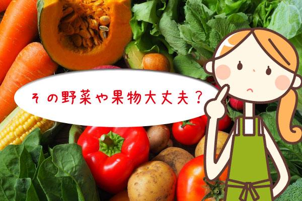 その野菜や果物大丈夫?