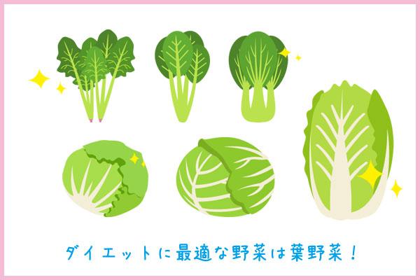 ダイエットに最適な野菜は葉野菜!