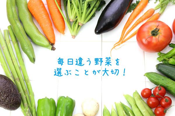 毎日違う野菜を選ぶことが大切!